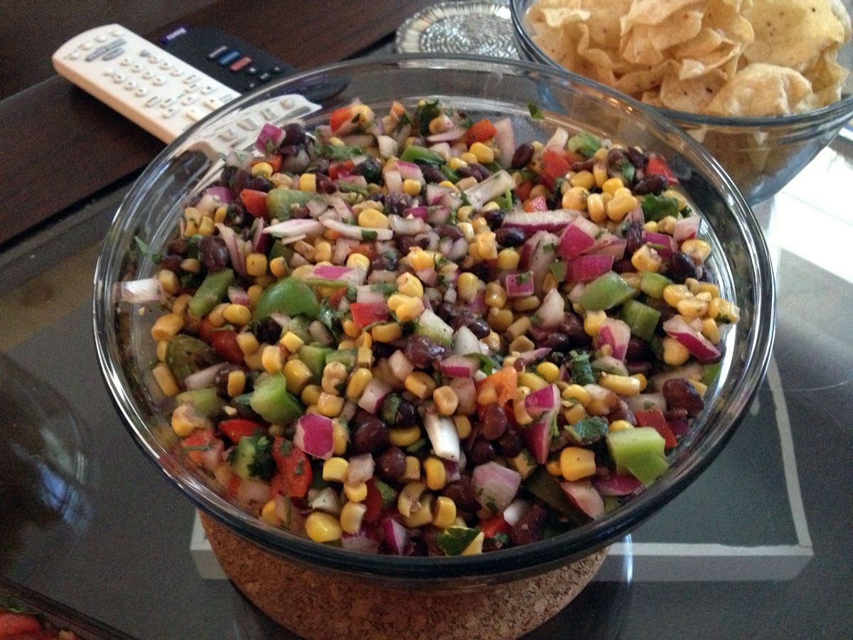 Corn & Black Bean Salsa | Hugs 'n Kitchen