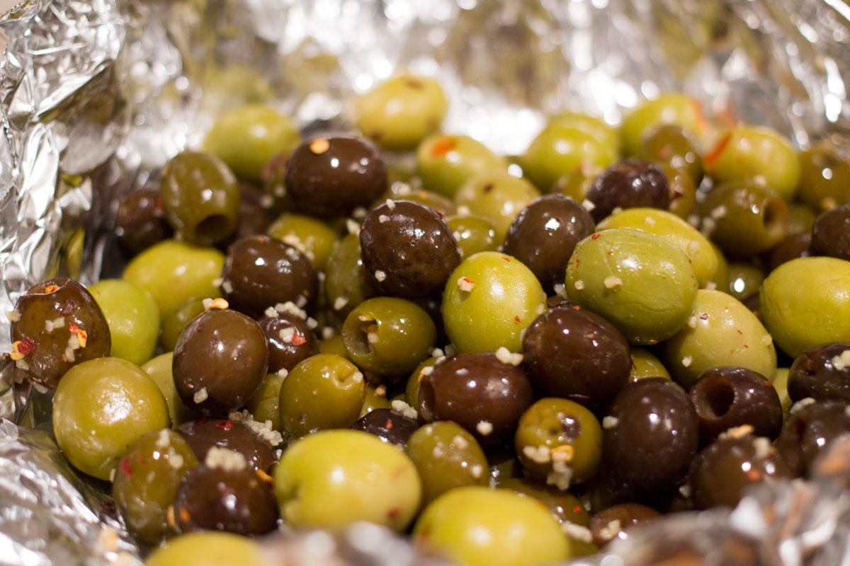 Grilled Spicy Olives | Hugs 'n Kitchen