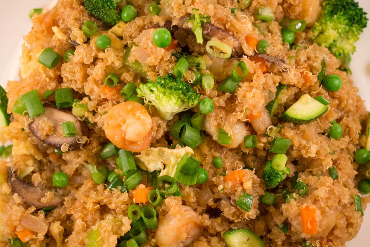 "Quinoa Fried ""Rice""   Hugs 'n Kitchen"