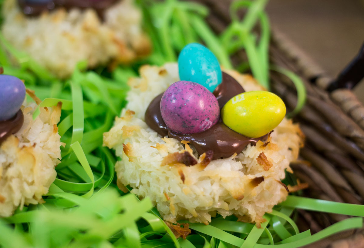 Coconut Macaroon Nests with Nutella | Hugs 'n Kitchen