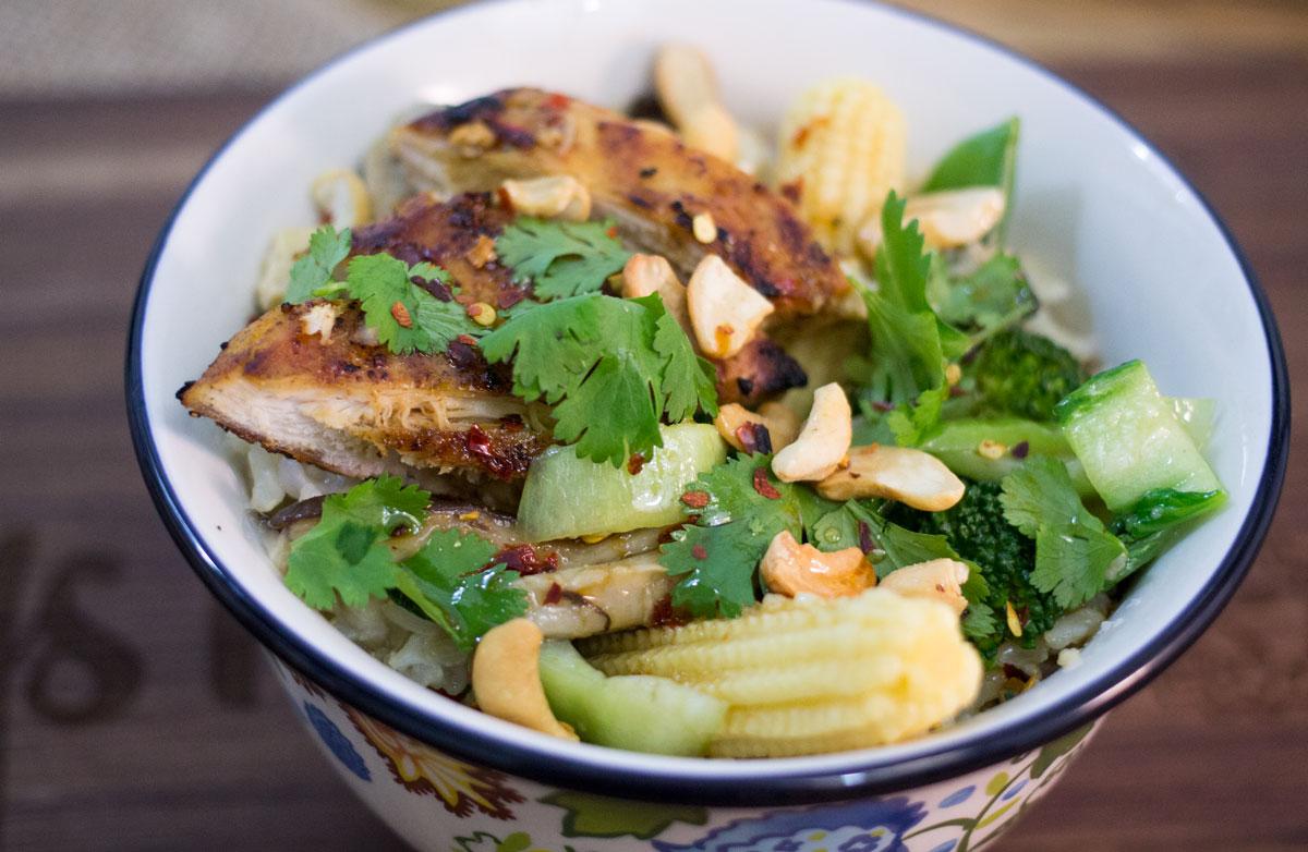 Shiitake + Bok Choy Rice Bowl   Hugs 'n Kitchen