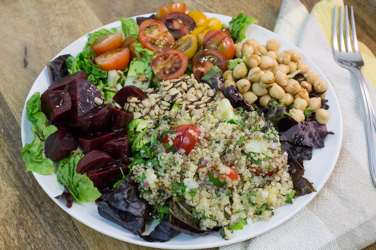 Roasted Beets + Quinoa Tabbouleh Salad with Balsamic | Hugs 'n Kitchen